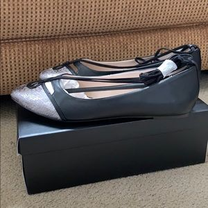 NEW in Box Eloquii Flat Ankle Lace Shoes